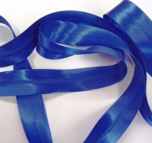 royal blue satin bias