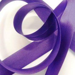 purple satin bias