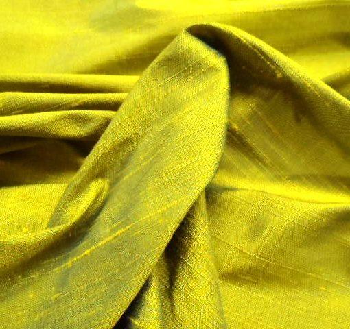 Silk Dupion Zucchini Texture