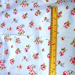 Floral Wind Swept Rose Cotton Fabric