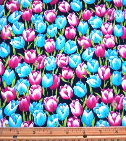 Floral Tulips Galore Cotton Fabric