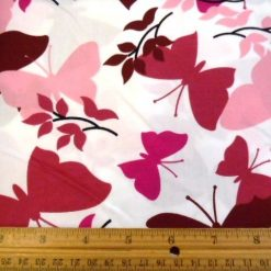 pink wild butterfly print cotton