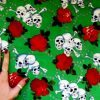 Cotton Fabric Skull Chained Rose