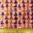 Pink Cubed Bears cotton fabric