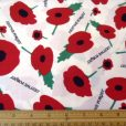 ivory remembrance poppies print cotton