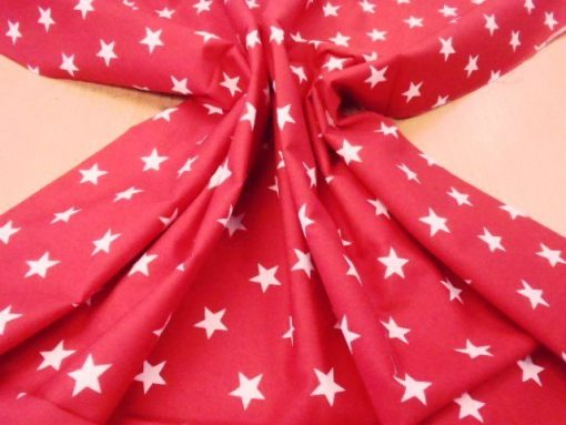 red movie film stars print cotton fabric