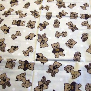 Doggy Owls cotton fabric