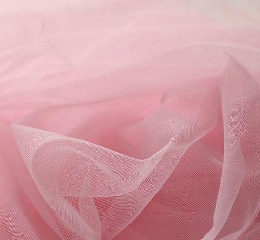 Voile Pink Sugar Puff Fabric