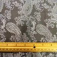 Paisley brocade fabric