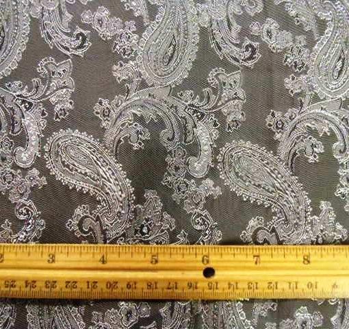 Paisley brocade fabric