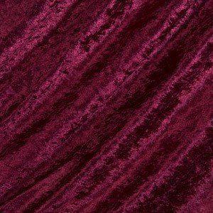 wine crushed velvet