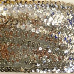 silver stretch sequins