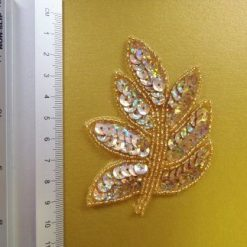 gold holo sequin leaves