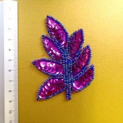 purple sequin leaves
