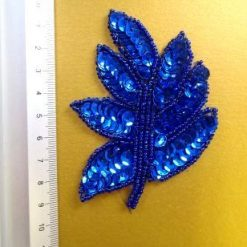 royal sequin leaves