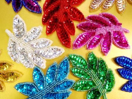 sequin leaves