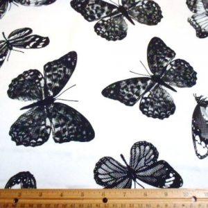 Polyester Crepe de Chine Shadow Butterflies