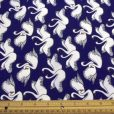 Polyester Crepe de Chine Royal Swans