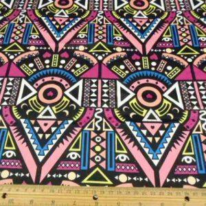 Pink Cotton Spandex Sateen Aztec Aurther
