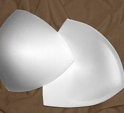 bra cups white