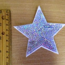 Motif Silver Hologram Sequin Star code MH002