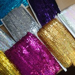 Sequins by the metre and sequin motifs