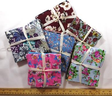 Patch Work Hearts Poly Cotton Summer Designs Fabric Dress Craft Fabric