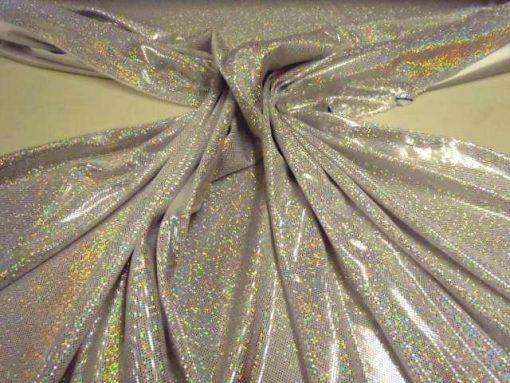 Dazzle Dust Foil Jersey Silver/White