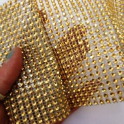 Gold Diamante Trim 7654 11.5cm Wide