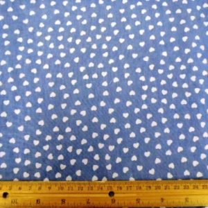 Cotton Chambray Fabric Hells Baker Hearts