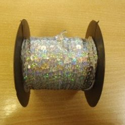 silver Sequins Hologram Strung 6mm