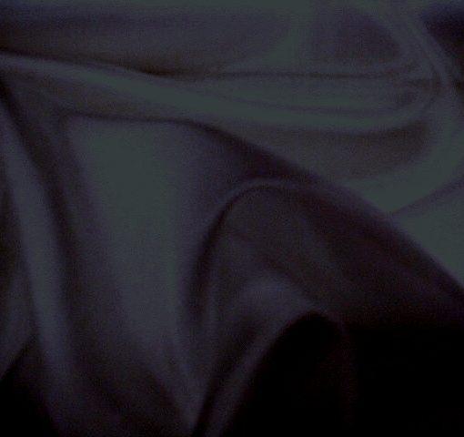 Plain Polyester Crepe De Chine Black