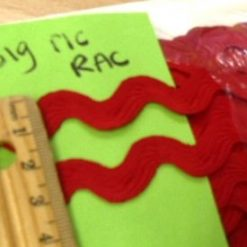 Red Jumbo Ric Rac Trim