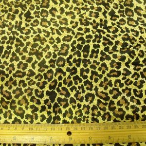 Satin Leopard Animal Print
