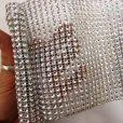 Silver Diamante Trim 7654 11.5cm Wide