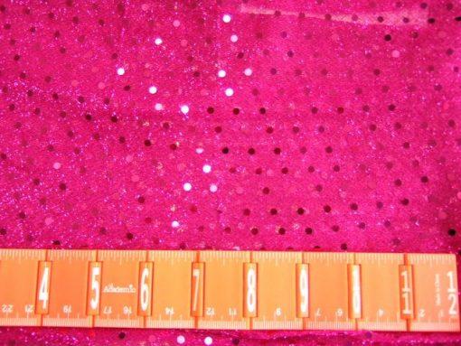 Spotty Dotty Polyester Lurex Sequin Cerise