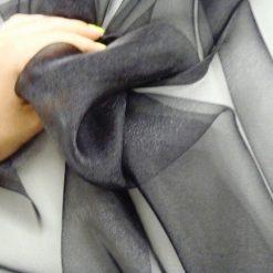 Organdie 100% Polyester Black