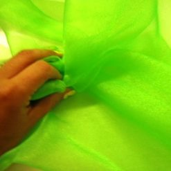 Voile Sugar Puff 100% Nylon Fluorescent Lime