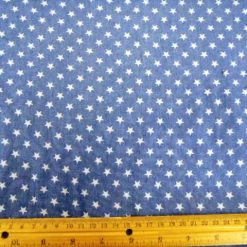 COTTON CHAMBRAY INDIGO MID WEIGHT TOXIC STAR BURST