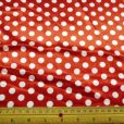 Polyester Satin Red Spots Hot Dots