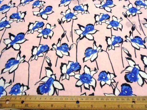 Polyester Chiffon Pink Blue Daffs