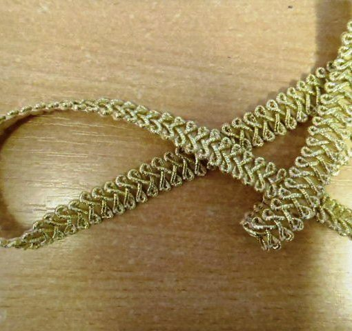 Metallic Frogging Braid Trim