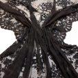 Black Guipure Lace Texture