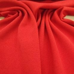Red Pillar Box Crepe Honeycomb Weave with Spandex Suiting