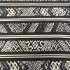 Black Liqueur Stripe Crepe De Chine