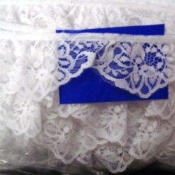 White Malaga Lace Trim
