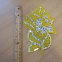 Yellow Lace Flower Motif