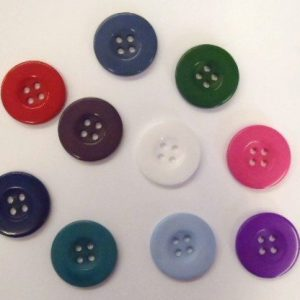 114 Buttons size 34 Plastic