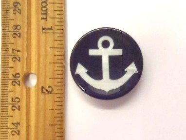 Black Anchor Buttons ANK 7