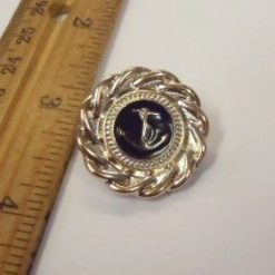 Large Gold/Black Anchor Buttons A322